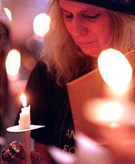 Vigil against violence